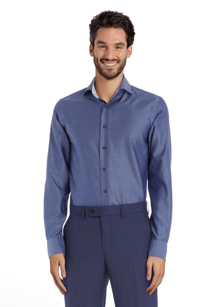Chemise bleu moyen – slim fit