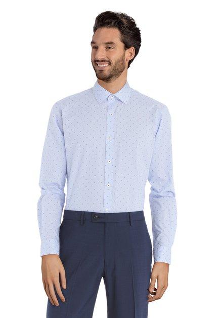 Chemise bleue à mini-motif – Svend - slender fit