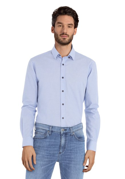 Chemise bleue à motif – Sandro - slender fit