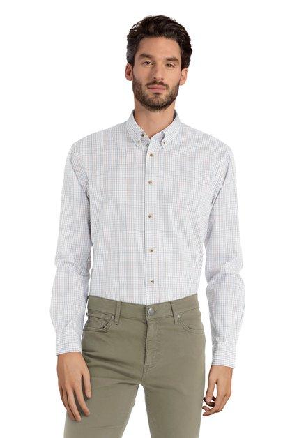 Chemise brune à carreaux - slender fit