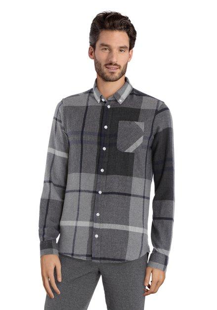 Chemise grise à carreaux - slim fit