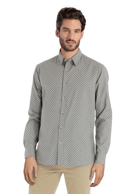 Chemise kaki à mini-motif – slender fit