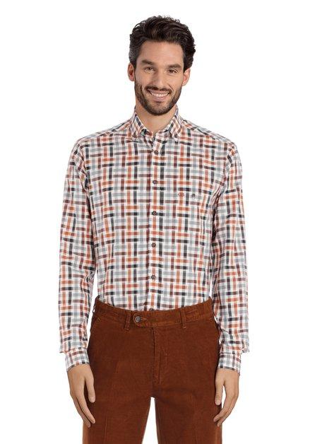Chemise marron avec des cubes – regular fit