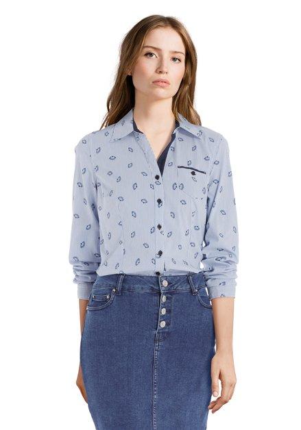 Chemise rayée bleu clair avec stretch