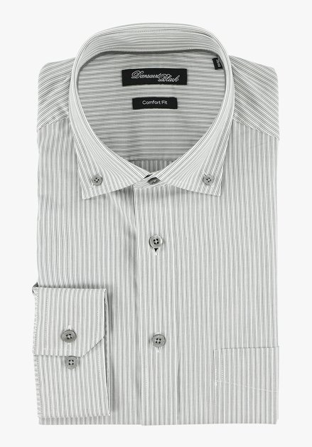 Chemise rayée gris clair – comfort fit
