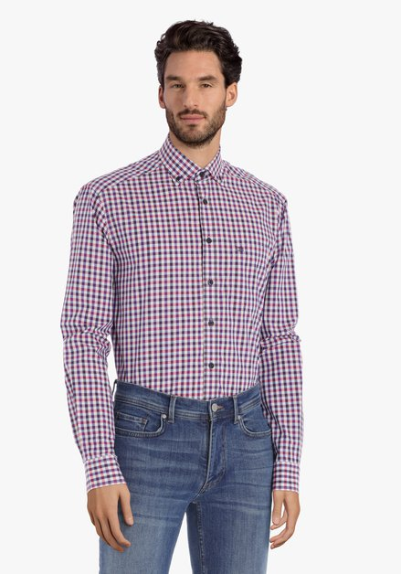 Chemise rouge à carreaux – comfort fit