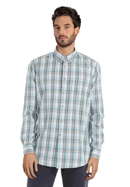 Chemise verte à carreaux - regular fit