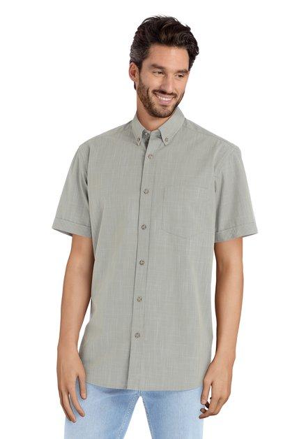 Chemise verte motif blanc fin – comfort fit