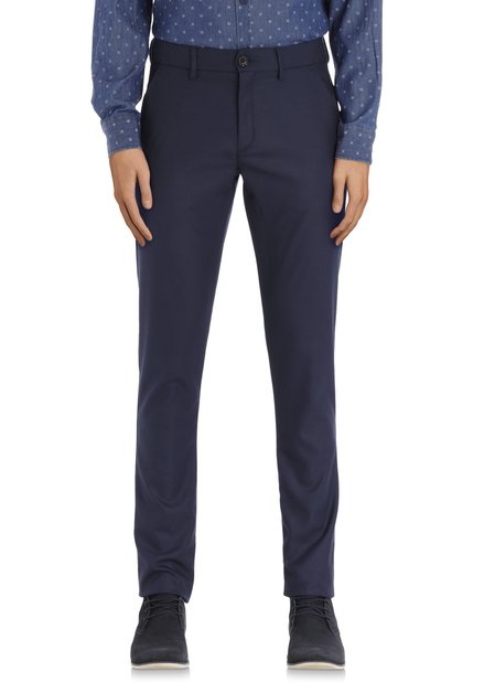 Chino bleu marine en tissu extensible – slim fit