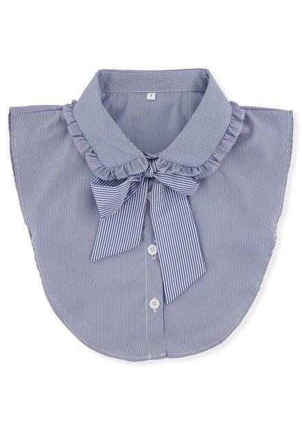 Col à rayures bleues et blanches avec nœud