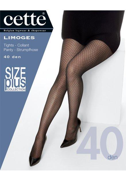 Collant noir à motif - Limoges - 40 den