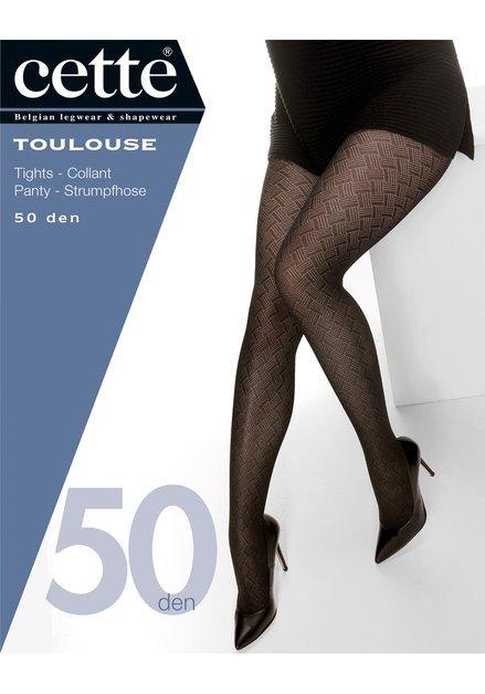 Collant noir à motif - Toulouse - 50 den