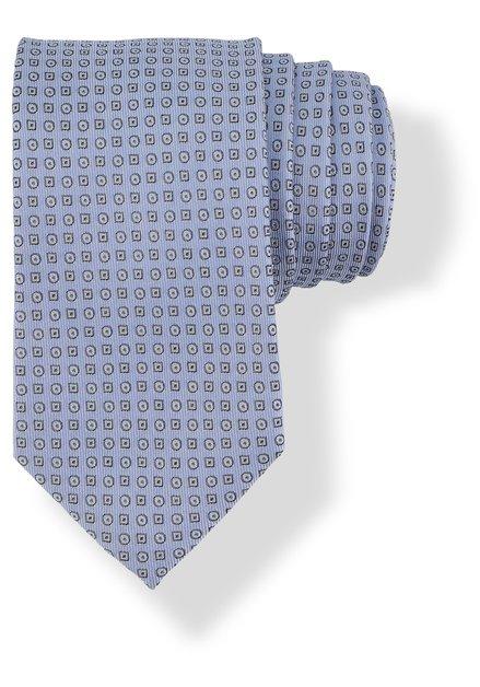 Cravate bleu clair à mini-motifs géométriques