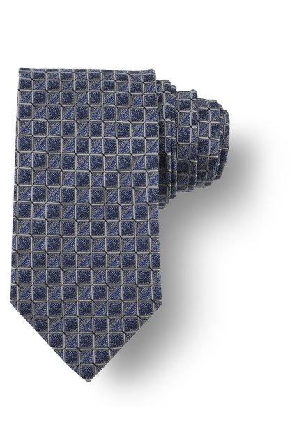 Cravate bleue à motif noir
