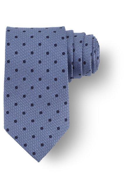 Cravate bleue à pois