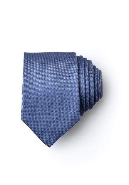 Cravate bleue en soie avec mini-imprimé
