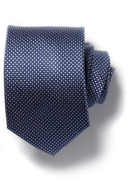 Cravate bleue et grise avec effet tissé