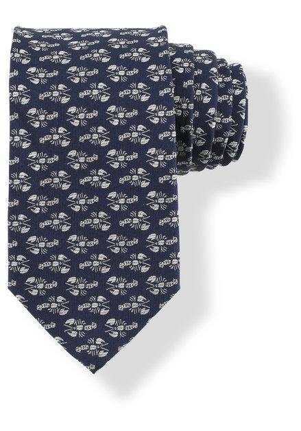 Cravate bleue foncé avec homards