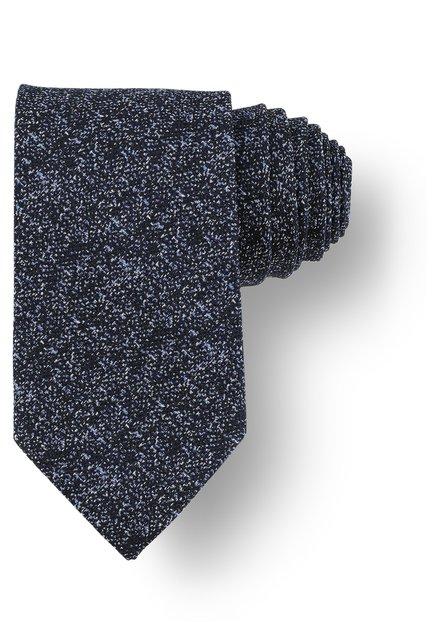 Cravate bleue mouchetée