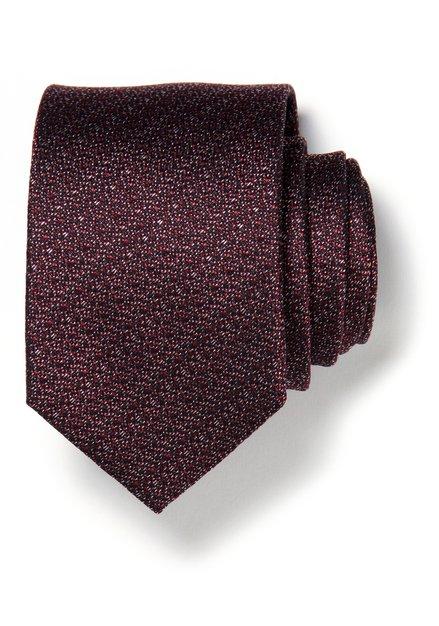 Cravate bordeaux chinée en soie