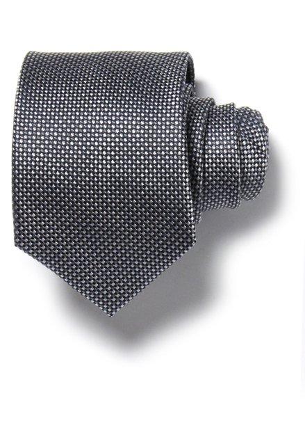 Cravate grise avec effet tissé