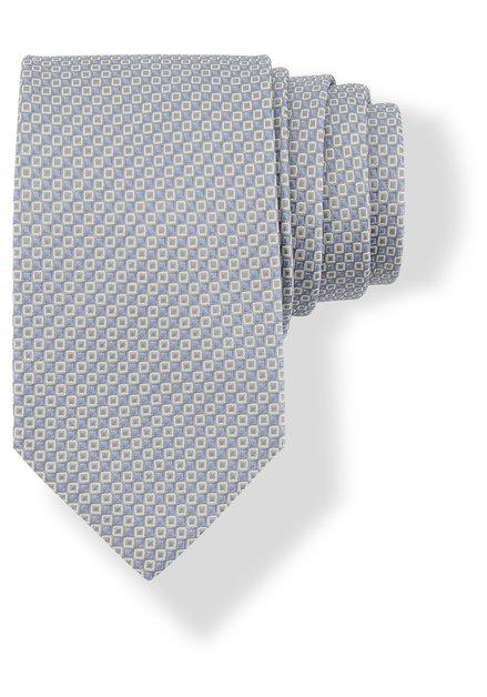Cravate grise en soie à mini-motifs gris