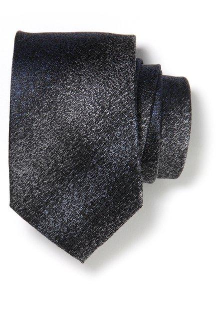 Cravate grise et bleue en soie
