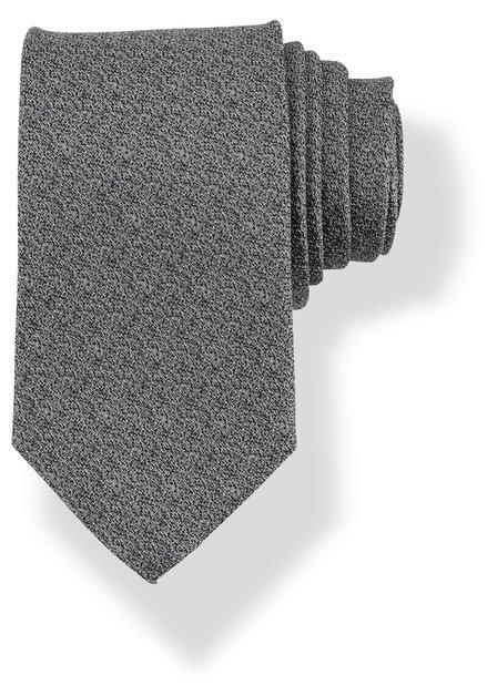 Cravate grise moucheté en soie