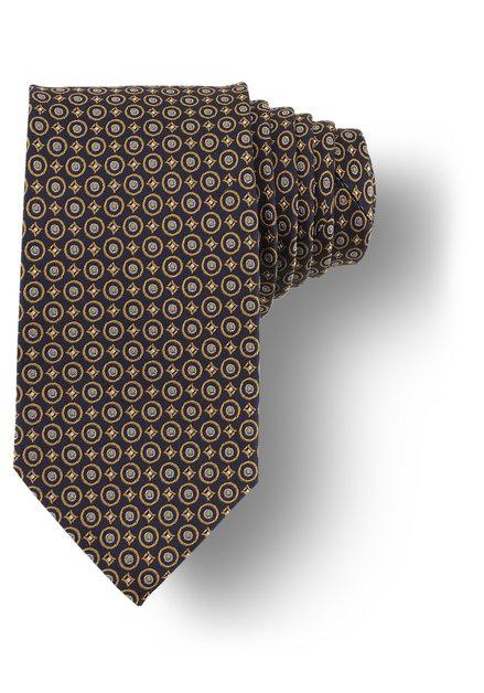 Cravatte à imprimé doré