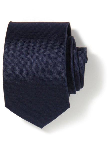 Cravatte bleu marine en soie