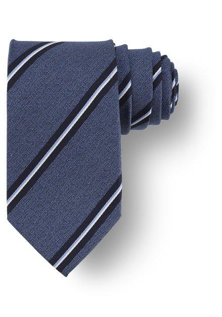 Cravatte bleue à rayures
