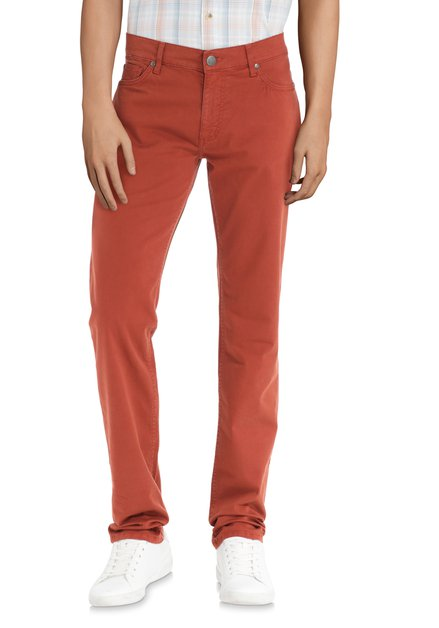 Denim orange foncé - straight fit