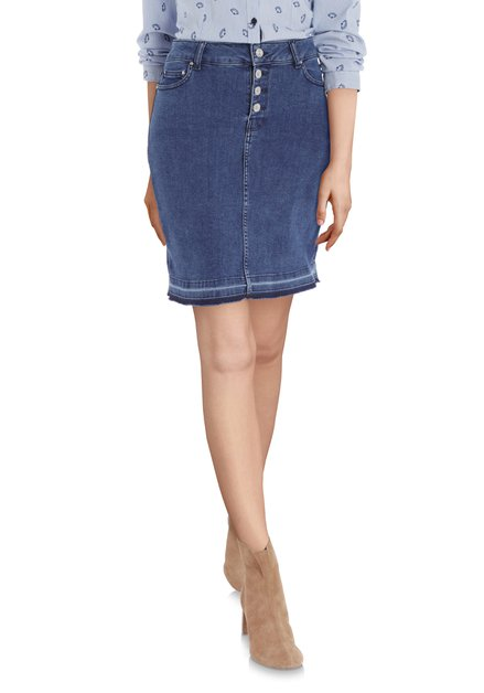 Denim rok met stretch