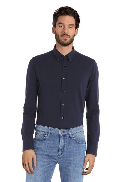 Donkerblauw hemd – Seagull – Slender fit