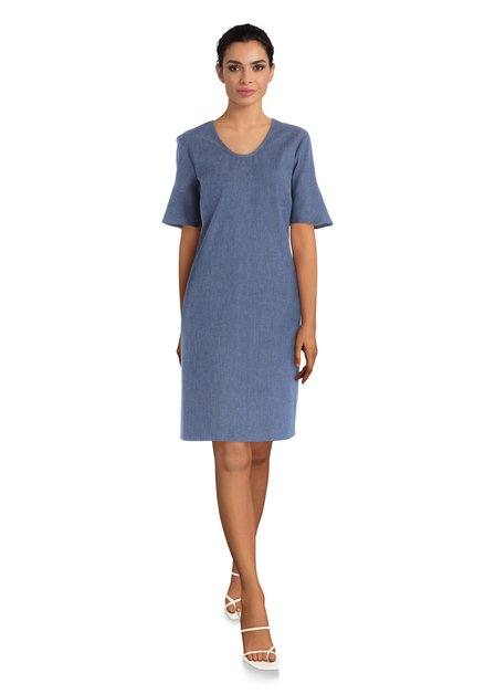 Donkerblauw kleed