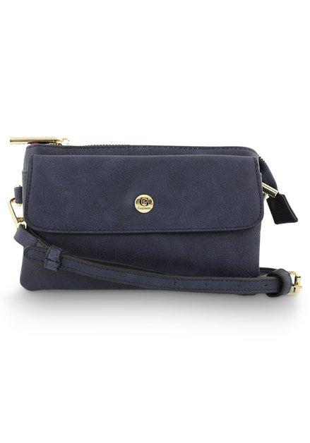 Donkerblauw schoudertasje
