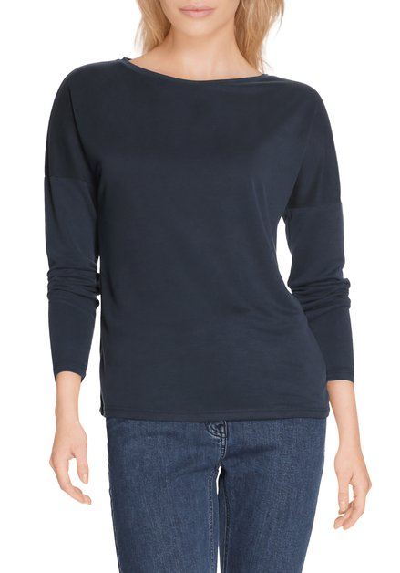 Donkerblauw T-shirt in modal