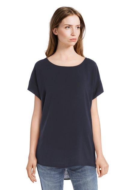 Donkerblauw T-shirt met ronde hals