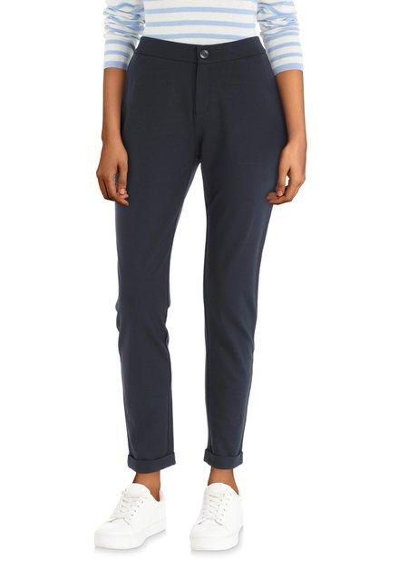 Donkerblauwe broek met achterzakken