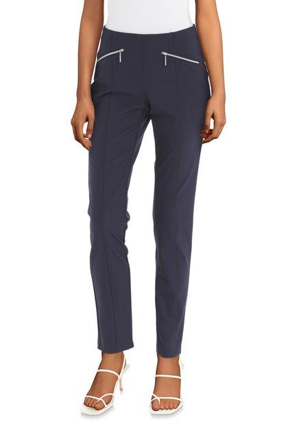 Donkerblauwe broek met elastische tailleband
