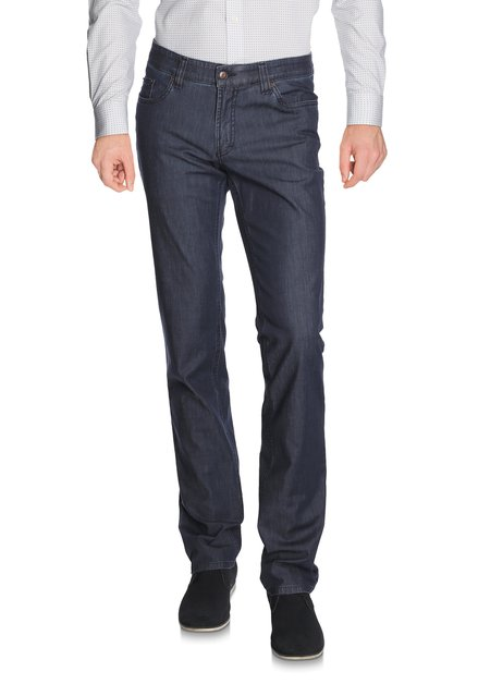 Donkerblauwe denim Jackson - regular fit