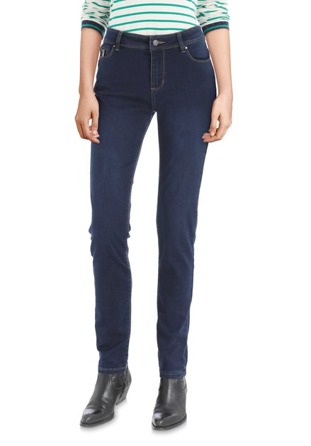 Donkerblauwe denim met push-up - slim fit