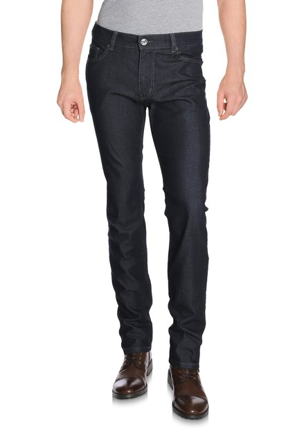 Donkerblauwe denim - straight fit