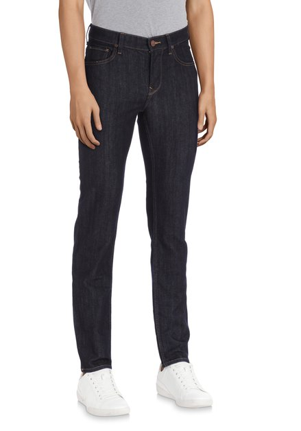 Donkerblauwe effen jeans - Rider - Slim fit - L32