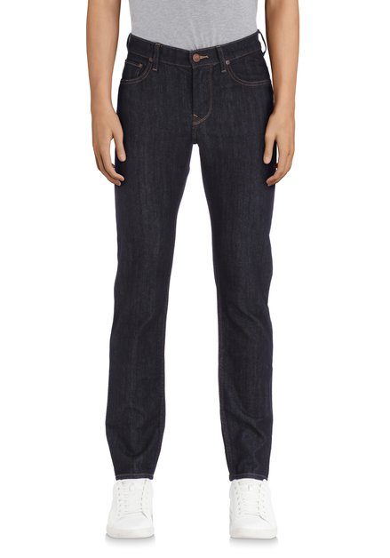 Donkerblauwe effen jeans - Rider - slim fit - L34