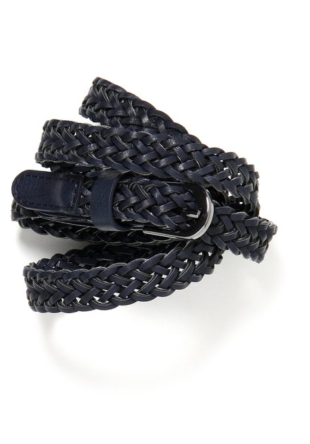 Donkerblauwe gevlochten riem