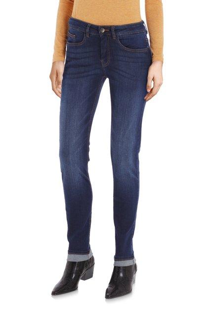 Donkerblauwe jeans - Robbie - slim fit - L32