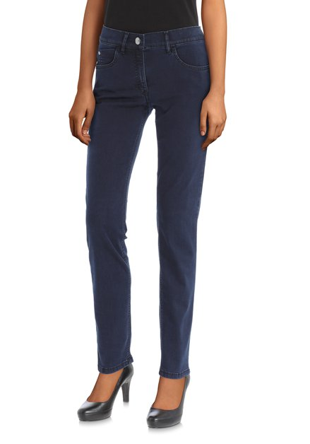 Donkerblauwe jeans - Twigy - straight fit