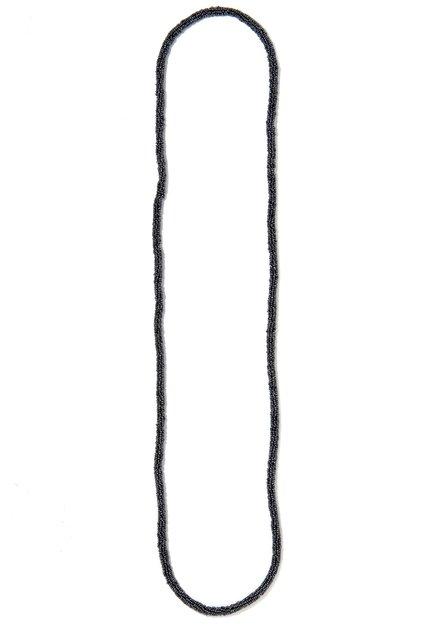 Donkerblauwe lange parelketting