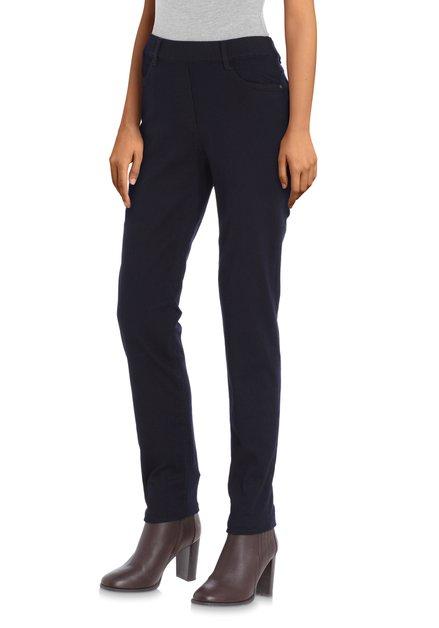 Donkerblauwe legging in stretchstof